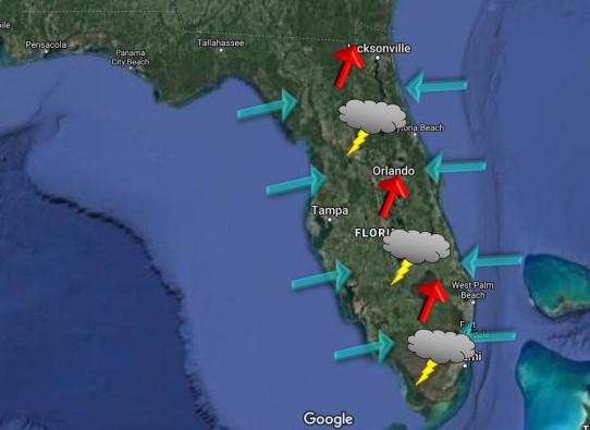 thunderstorm convergence FL